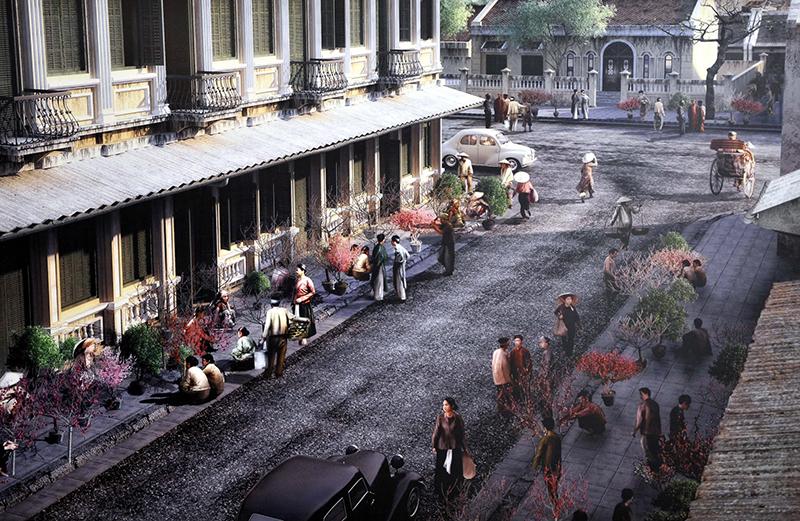 Cảnh bán buôn sầm uất ở 36 phố phường Hà Nội xưa