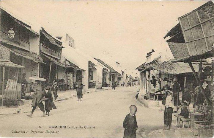 Các phố Hàng Đồng, Hàng Đường thời Pháp thuộc. Nay là phố Hàng Đồng