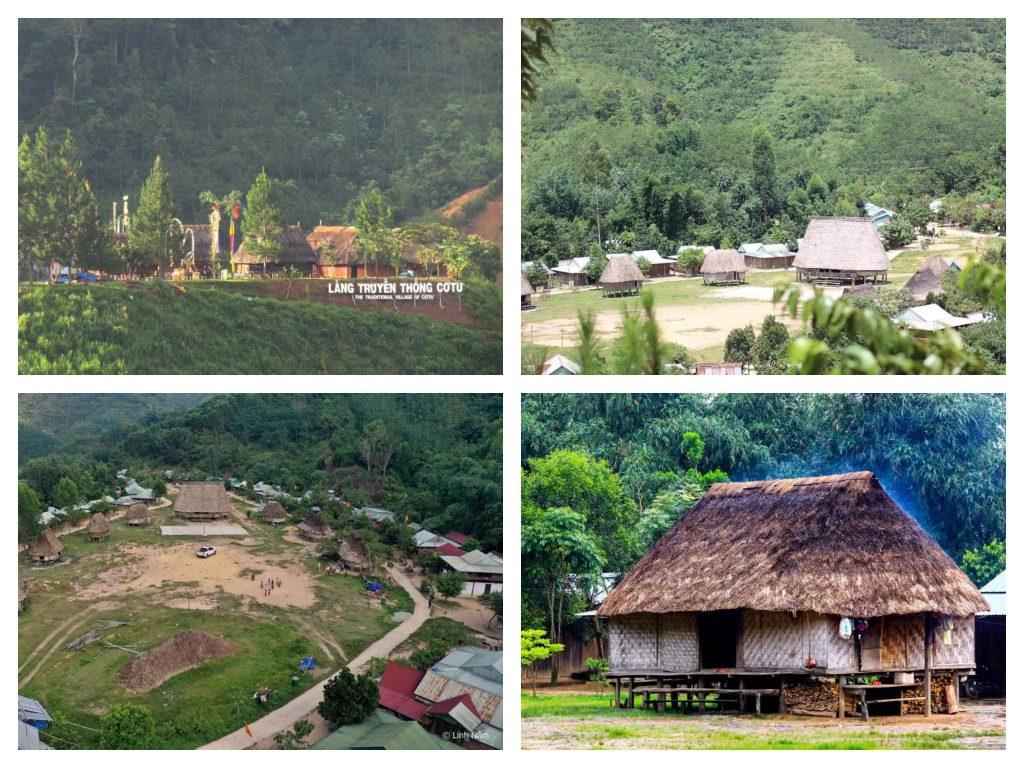 Làng truyền thống Cơtu ở Tây Giang