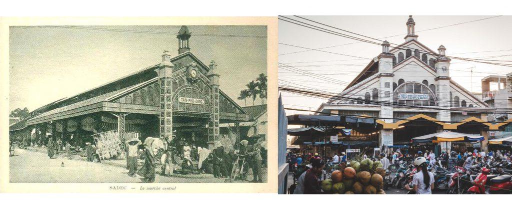 Chợ thực phẩm xưa và nay.