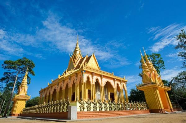 Toàn cảnh chùa Cò hay còn gọi chùa Nodol tại Trà Vinh