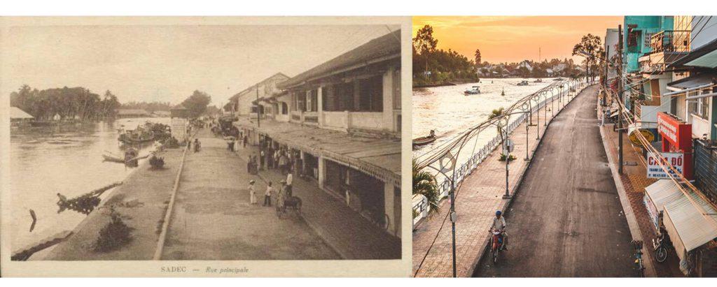 Đường Nguyễn Huệ xưa và nay.