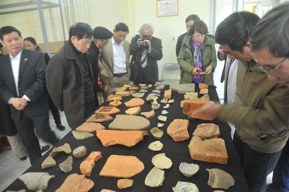 Các di vật cổ còn sót lại của thành nhà Hồ được tìm thấy qua cuộc khai quật năm 2018.