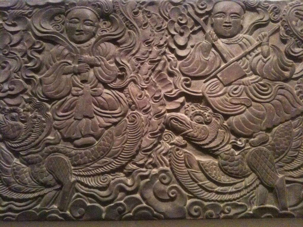 Một bức phù điêu mà chùa Thái Lạc đang lưu giữ