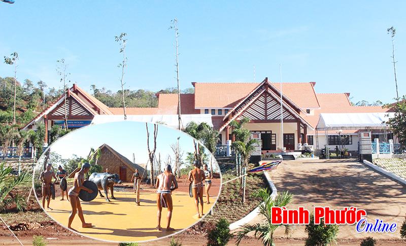 Một góc của Khu bảo tồn văn hóa dân tộc S'Tiêng sóc Bom Bo